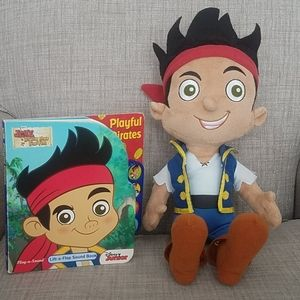 Disney Jake and Never Land Pirates Book and Doll